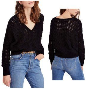 Free People S Best Of You V-Neck Sweater Open knit